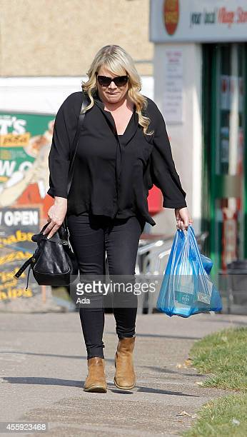 Letitia Dean is seen out shopping after filming scenes for Eastenders on September 22, 2014 in London, England.