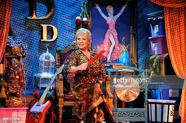 """Letitia Dean performs in the production """"High School Musical"""" at the Apollo Theatre Hammersmith in London."""