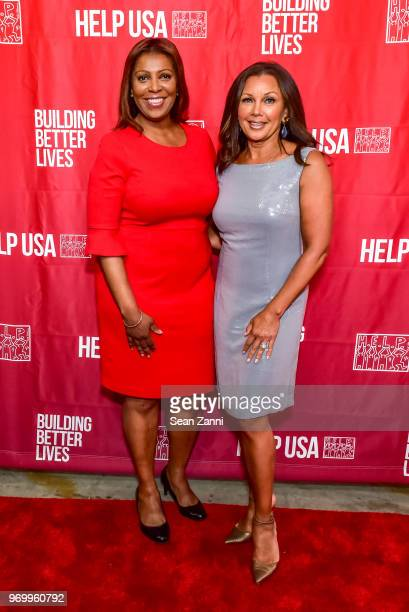 Letitia James and Vanessa Williams attend HELP USA Heroes Awards Gala at the Garage on June 4, 2018 in New York City.