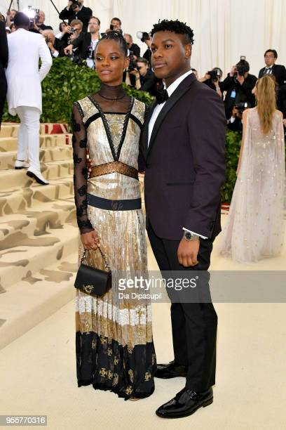 Letitia Wright and John Boyega attend the Heavenly Bodies Fashion The Catholic Imagination Costume Institute Gala at The Metropolitan Museum of Art...