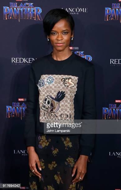 Letitia Wright attends Marvel Studios Presents Black Panther Welcome To Wakanda during February 2018 New York Fashion Week The Shows at Industria...
