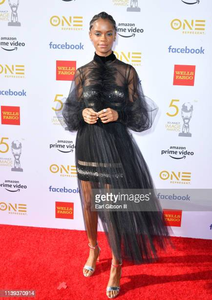 Letitia Wright attends the 50th NAACP Image Awards at Dolby Theatre on March 30 2019 in Hollywood California