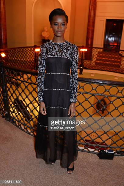 Letitia Wright attends The 64th Evening Standard Theatre Awards at the Theatre Royal Drury Lane on November 18 2018 in London England