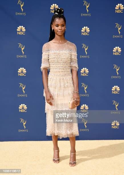Letitia Wright attends the 70th Emmy Awards at Microsoft Theater on September 17 2018 in Los Angeles California