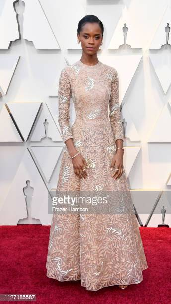 Letitia Wright attends the 91st Annual Academy Awards at Hollywood and Highland on February 24 2019 in Hollywood California