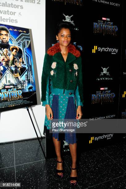 Letitia Wright attends The Cinema Society with Ravage Wines Synchrony host a screening of Marvel Studios' 'Black Panther' at The Museum of Modern Art...
