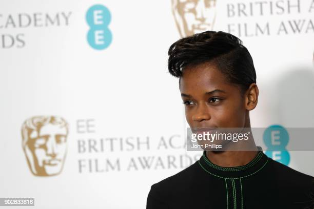 Letitia Wright attends The EE British Academy Film Award BAFTA nominations announcement at BAFTA on January 9 2018 in London England