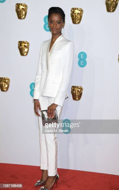 Letitia Wright attends the EE British Academy Film Awards at Royal Albert Hall on February 10, 2019 in London, England.