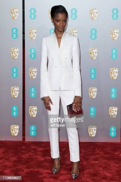 Letitia Wright attends the EE British Academy Film Awards at Royal Albert Hall on February 10 2019 in London England