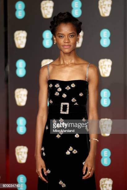 Letitia Wright attends the EE British Academy Film Awards held at Royal Albert Hall on February 18 2018 in London England