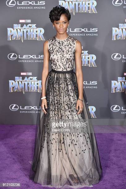 Letitia Wright attends the Premiere Of Disney And Marvel's Black Panther Arrivals on January 29 2018 in Hollywood California