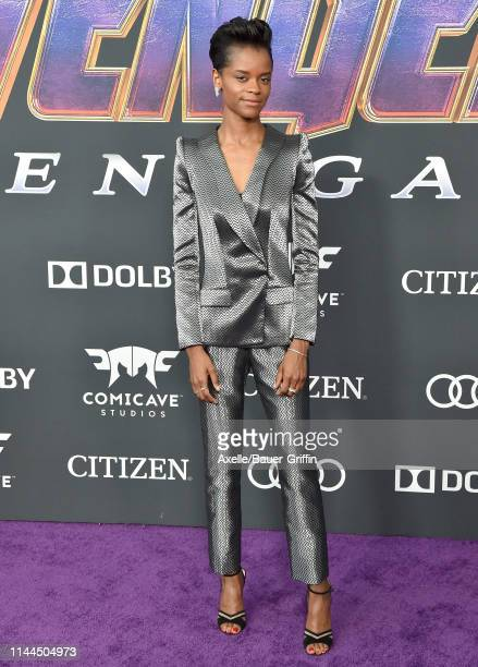 Letitia Wright attends the World Premiere of Walt Disney Studios Motion Pictures 'Avengers Endgame' at Los Angeles Convention Center on April 22 2019...