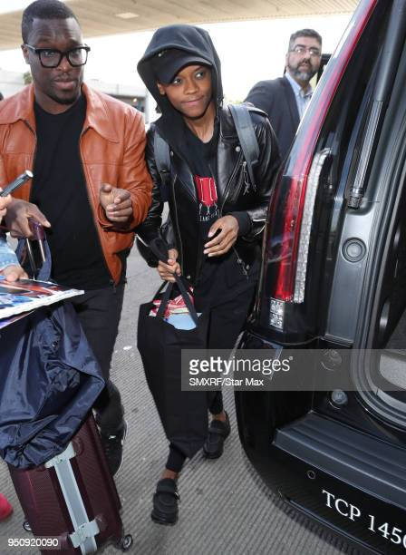 Letitia Wright is seen on April 24 2018 in Los Angeles CA