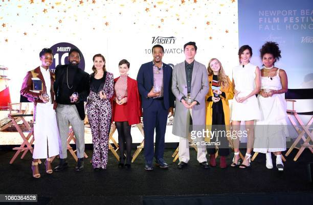 Letitia Wright John David Washington Marina De Tavira Cailee Spaeny Russell Hornsby Henry Golding Elsie Fisher Gemma Chan and Zazie Beetz pose for a...