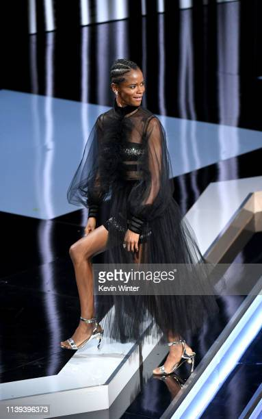 Letitia Wright onstage at the 50th NAACP Image Awards at Dolby Theatre on March 30, 2019 in Hollywood, California.