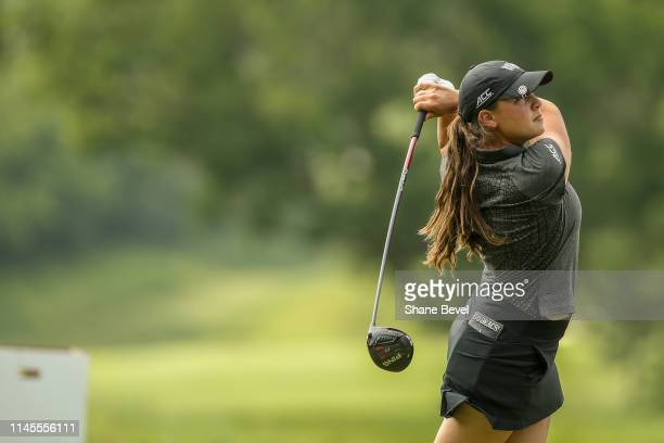 Letizia Bagnoli of Wake Forest University tees off during the Division I Women's Golf Match Play Championship held at Blessings Golf Club on May 22,...
