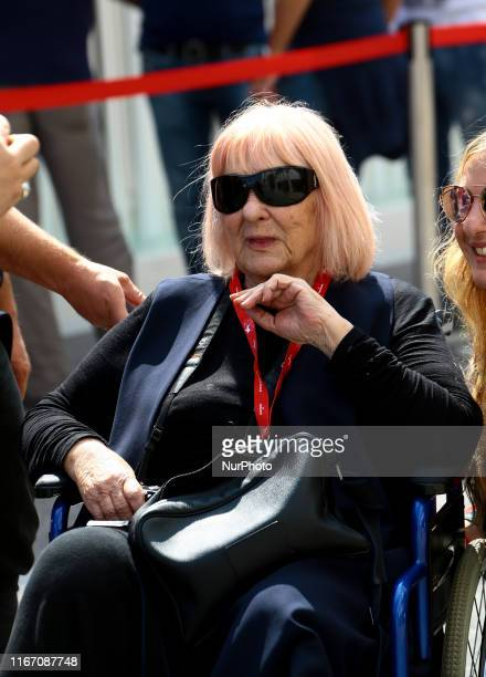 Letizia Battaglia is seen arriving at the 76th Venice Film Festival on September 07 2019 in Venice Italy
