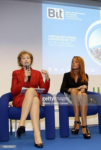 Letizia Moratti and Michela Vittoria Brambilla attend the 2011 BIT International Tourism Exchange held at Fieramilano on February 17 2011 in Milan...