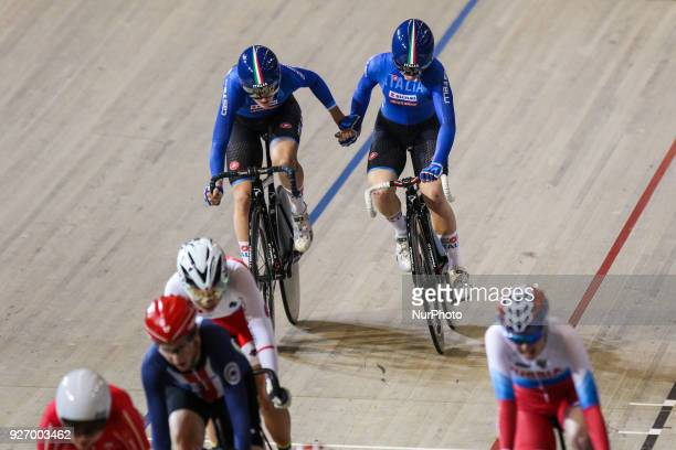 Letizia Paternoster Maria Gulia Confalonieri Women`s madison during the UCI Track Cycling World Championships in Apeldoorn on March 3 2018