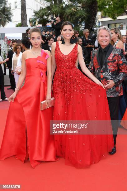 Letizia Pinochi Blanca Blanco and John Savage attend the screening of The Wild Pear Tree during the 71st annual Cannes Film Festival at Palais des...