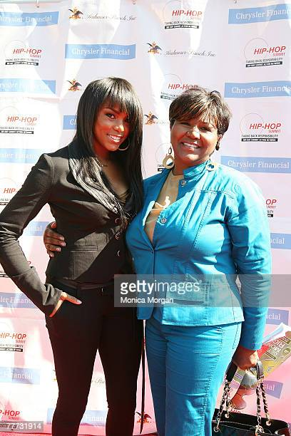 LeToya Luckett and her mother Pamela Luckett attend the Get Your Money Right Finanial Empowerment Seminar at the Hip Hop Summit sponsored by Chrysler...