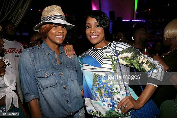 LeToya Luckett and Monica attend Masquerade Club At Harrah's on July 3 2014 in New Orleans Louisiana