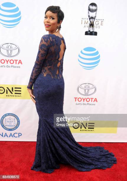 LeToya Luckett arrives at the 48th NAACP Image Awards at Pasadena Civic Auditorium on February 11 2017 in Pasadena California