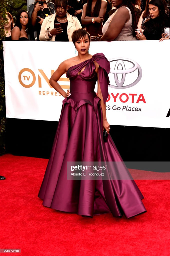 Letoya Luckett attends the 49th NAACP Image Awards at Pasadena Civic Auditorium on January 15, 2018 in Pasadena, California.