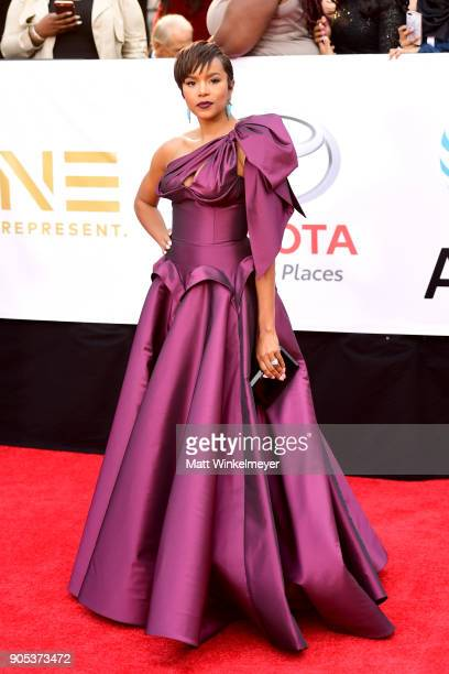 Letoya Luckett attends the 49th NAACP Image Awards at Pasadena Civic Auditorium on January 15 2018 in Pasadena California