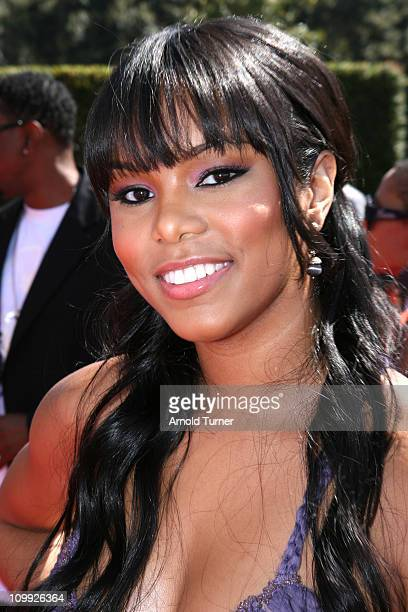 LeToya Luckett during BET Awards 2007 Black Carpet at Shrine Auditorium in Los Angeles California United States