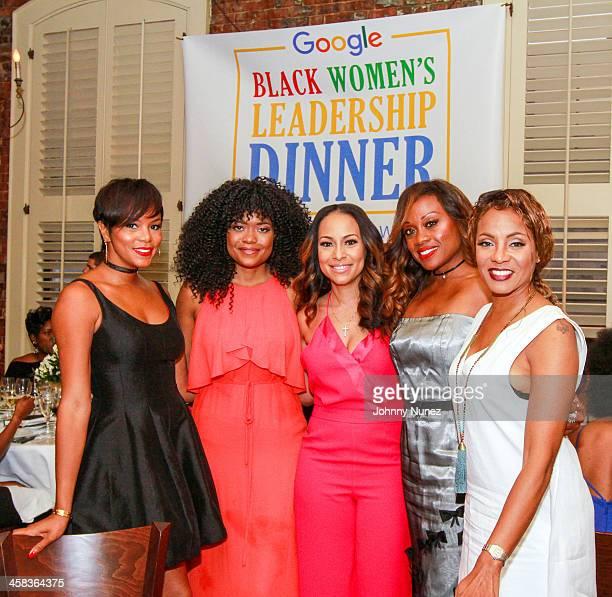 LeToya Luckett Karen Civil Valeisha Butterfield Jones Midwin Charles and MC Lyte attend the 2016 Google Black Women's Leadership Dinner at August...