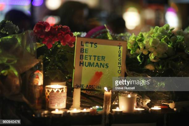 TORONTO ON APRIL 24 Lets be better humans A candle light vigil is held at Olive Square near Yonge and Finch Streets for the 10 people that were...