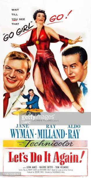 Let's Do It Again poster US poster art top from left Aldo Ray Jane Wyman Ray Milland 1953