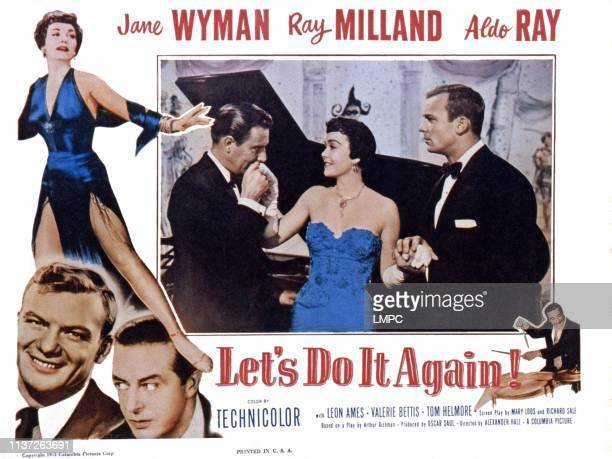 Let's Do It Again US lobbycard left from top Jane Wyman Aldo Ray Ray Milland center from left Ray Milland Jane Wyman Aldo Ray 1953