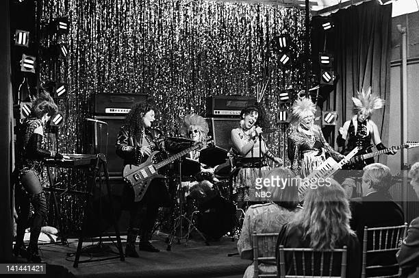 LIFE Let's Face the Music Episode 17 Pictured Cloris Leachman as Beverly Ann Stickle Mindy Cohn as Natalie Green Lisa Whelchel as Blair Warner...