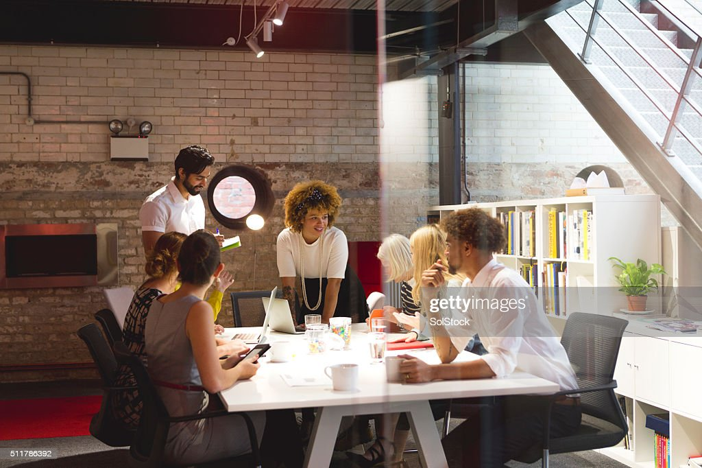 Let's get down to business! : Stock Photo
