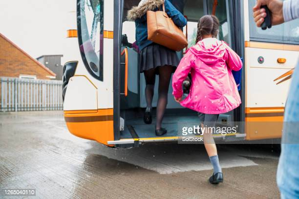 let's get on the bus! - education stock pictures, royalty-free photos & images
