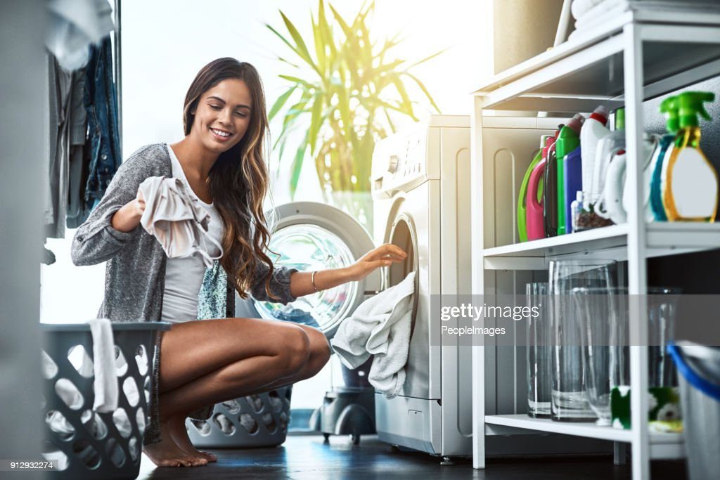 Let's get to this laundry : Stock Photo