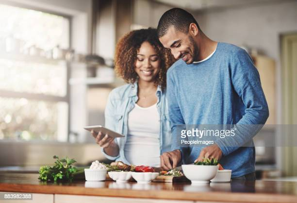 let's give this recipe a try - young couples stock pictures, royalty-free photos & images