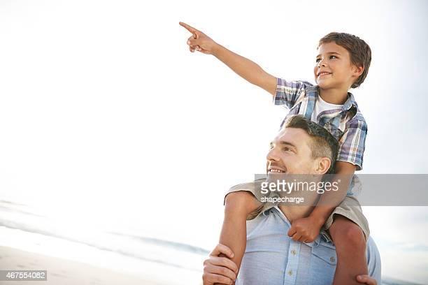 Let's go da drüben, Papa!