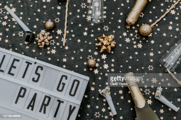 lets go party message in lightbox - invitation stock pictures, royalty-free photos & images