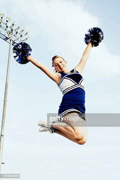 let's go! - cheerleaders stock photos and pictures