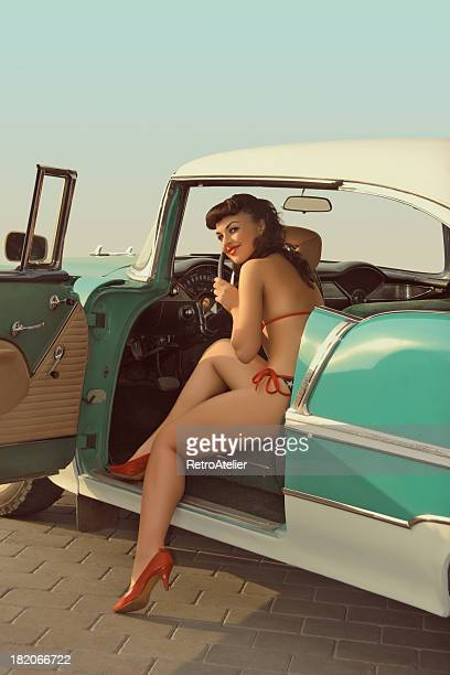let's go - pin up vintage photos et images de collection