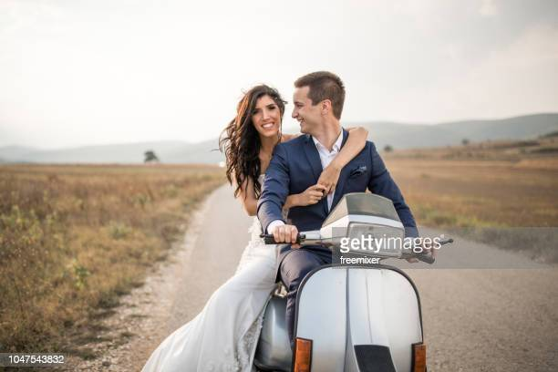 lets go somewhere - newlywed stock pictures, royalty-free photos & images