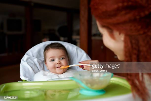 let's have lunch - pureed stock photos and pictures