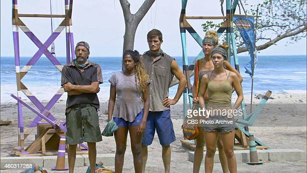 'Let's Make a Move' Keith Nale Natalie Anderson Jon Misch Jaclyn Schultz and Baylor Wilson during the thirteenth episode of Survivor 29 Wednesday...