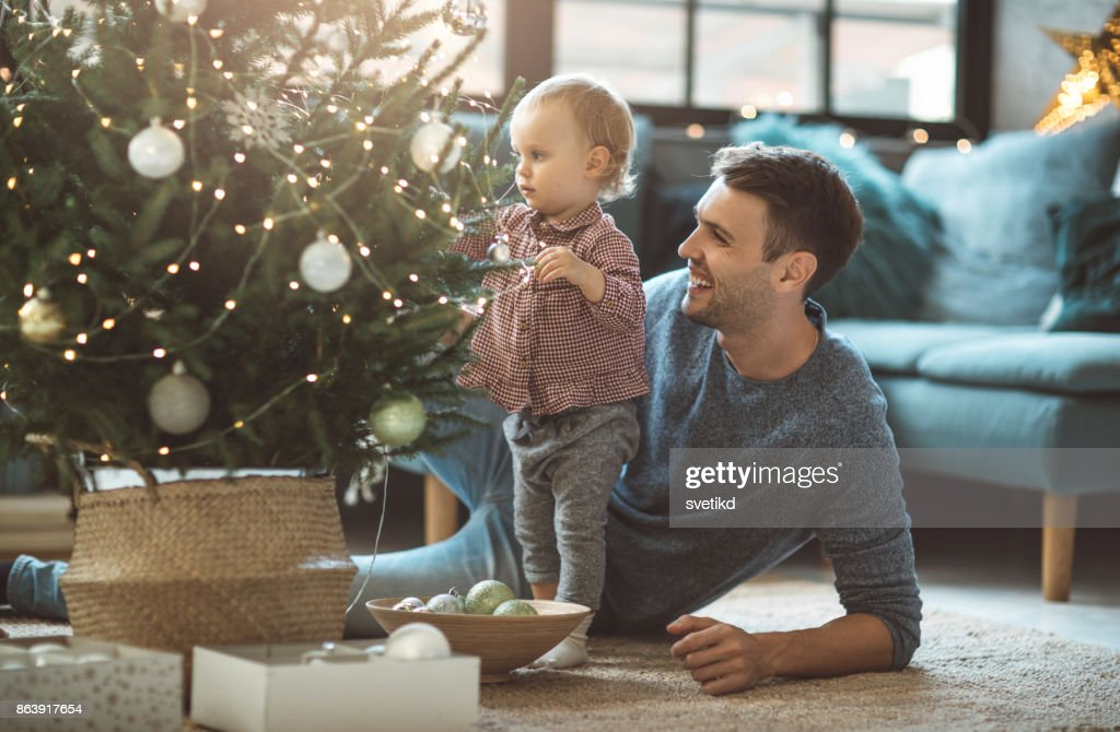 Lets pick perfect ornaments : Stock Photo