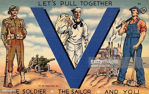 Let's Pull Together 'V' The Soldier The Sailor And You