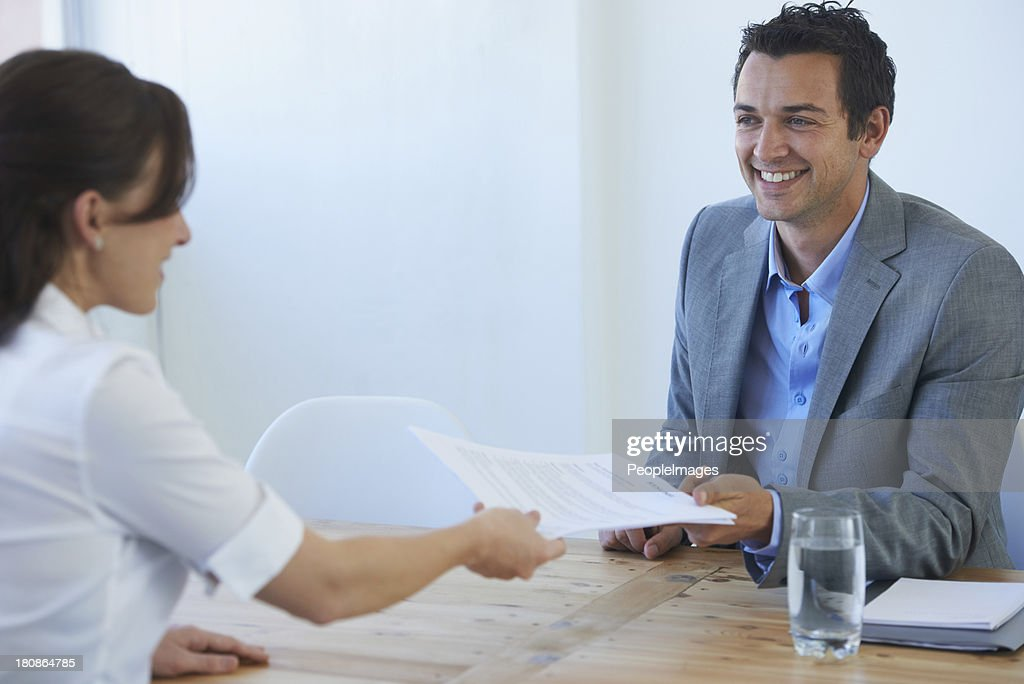Let's see that resume... : Stock Photo