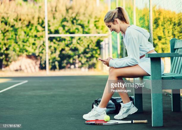 let's see who's coming to watch me play - tennis player stock pictures, royalty-free photos & images